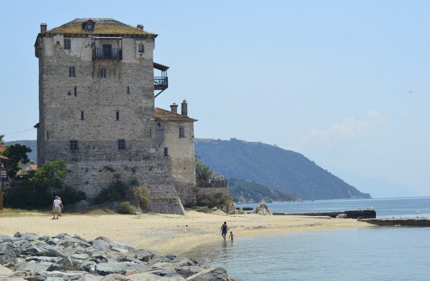 Chalkidiki Turm am Strand