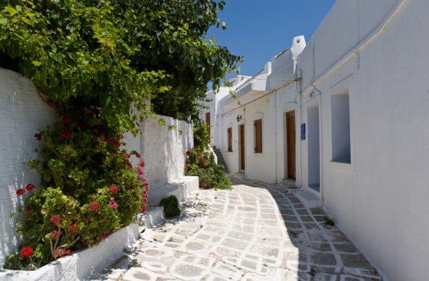Griechenland Weiße Gasse