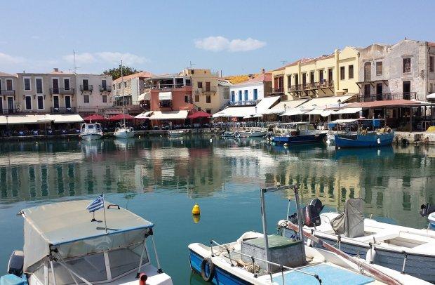 Kreta Hafen von Rethymnon