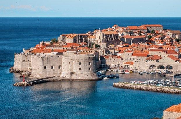 Kroatien Hafen von Mlini