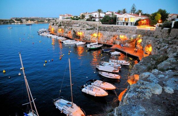 Balearen Hafen auf Menorca
