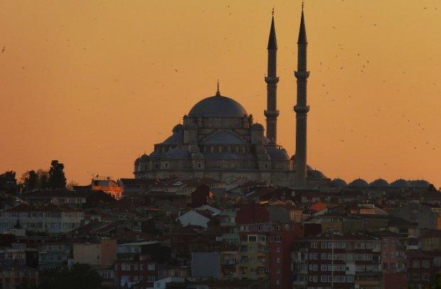 Türkei Istanbul am Abend