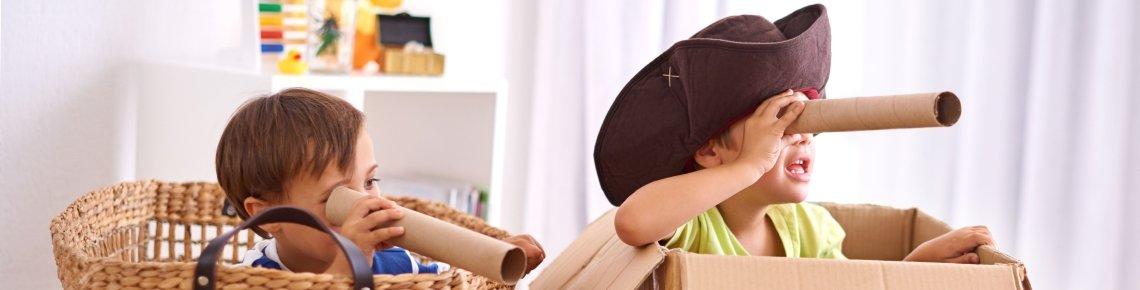 Verkleiden regt die Phantasie der Kinder an