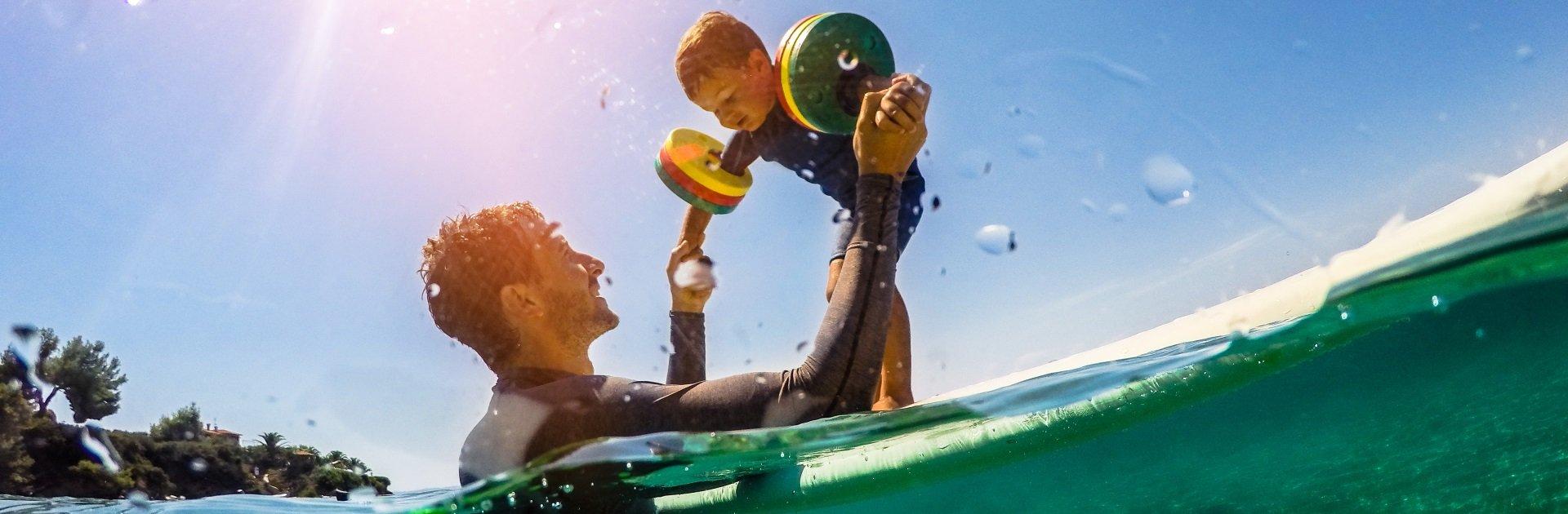 Wassersport im Familienhotel