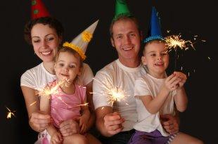 Silvester feiern mit Kindern