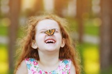 Wellness mit Kindern Lachendes Kind